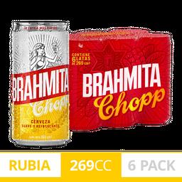 Six Pack Brahma Lata 473ml