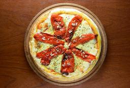 Pizza de Morrones con Muzzarella
