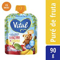 Puré De Frutas Vital Manzana Banana 90 G.