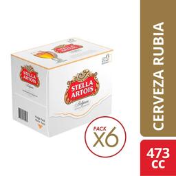 Cerveza Rubia Stella Artois 6 X 473 Cc.