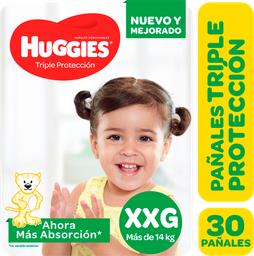 Pañal Huggies Triple Protección  Xxgx30