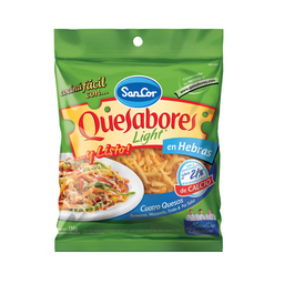 Queso En Hebras Light Quesabores Sancor 4 Quesos 150 G.