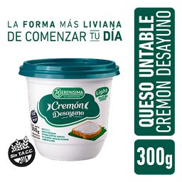 Queso Untable Cremon Desayuno Pote 300 g