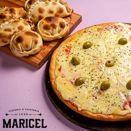 Pizza Mozzarella + 6 Empanadas