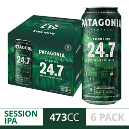 Cerveza Patagonia 24.7 Lata X6