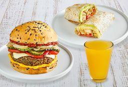 Rolls or Burger + Bebida