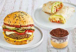 Rolls or Burger + Postre
