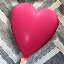Paleta Premium Corazón Frutilla