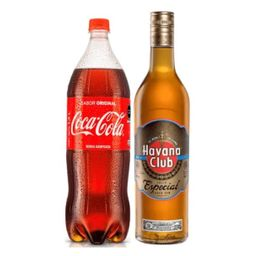 Ron Havana Añejo 750ml + Cocacola 1.25m