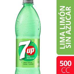 7up Lima Limón Sin Azúcar 500ml