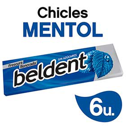 Chicles Beldent Mentol 10Grs