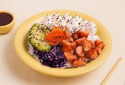 Poke Salad Salmón Crispy