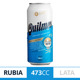 Cerveza Rubia Quilmes Lata 473 mL