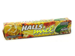Caramelo Halls Miel C/Menta 28Grs
