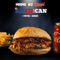 Promo Rappi #2(american, Papas y Bebida)