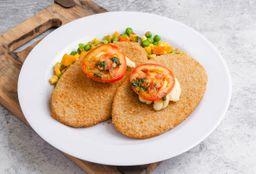 Milanesa de Soja + Vegetales Grillados