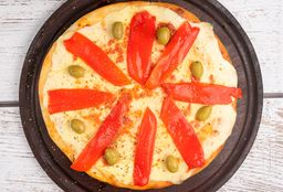 Pizza de Muzzarella con Morrón