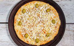 Pizza de Muzzarella con Huevo