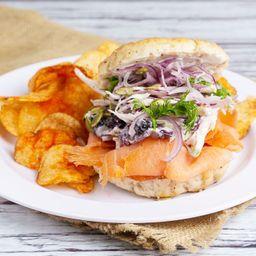 Sandwich de Salmón Bagel