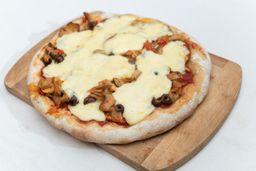 Pizza de Champignones con Mozzarella