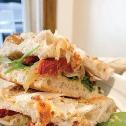 Sándwich de Focaccia Vegan