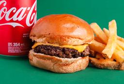 Promo 4 - Hamburguesa con Queso & Bebida