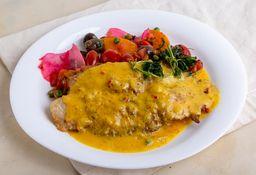 Lenguado en Salsa de Azafrán & Lima