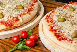 Pizza Muzza & Pizza con Jamón