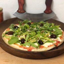 Pizza con Rúcula y Almendras
