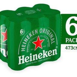 Six Pack Heineken 473 ml