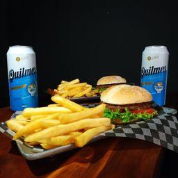 2 Hamburguesas Clásicas, Papas y Bebida