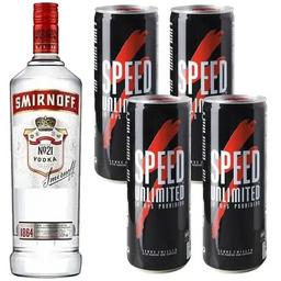 Combo Vodka y 4 Speed