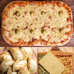 8 Empanadas, Pala Mozzarella y 4 Faina