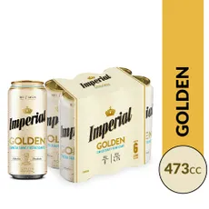 Six Pack Cerveza Imperial Golden Lata 473ml