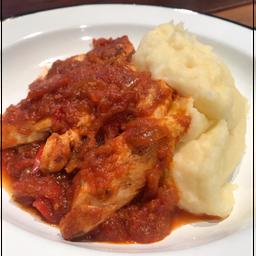 Pollo a la Portuguesa con Puré