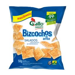 2 u Bizcochos De Arroz Salados Gallo Snacks X 50 Gr