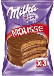 2 u Alfajor Milka Triple Mousse 55Grs