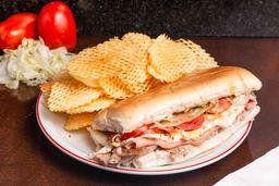 Sandwich de Molleja + Papas