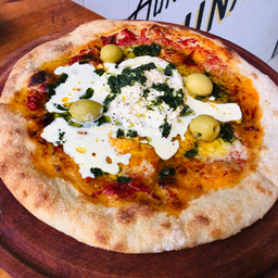 Pizza de Burrata & Pesto