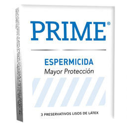 Preservativo Prime Espermicida Blanco 3 U