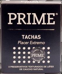Preservativo Prime Tachas Texturado Negro 3 U