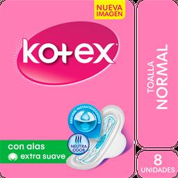 Kotex Days - Toallita Femenina  Extra Suave Con Alas X 8un