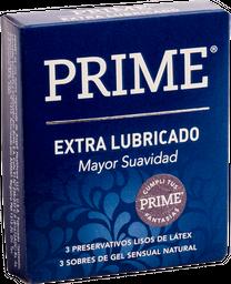 Prime - Preservativos Azul Lubricado X 3un
