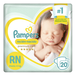 Pampers – Pañales Active Baby Rn X 20un