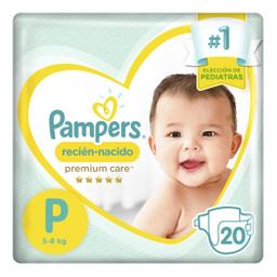 2 u Pampers – Pañales Premium Care P X 20un