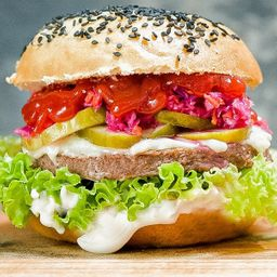 White Notco Burger