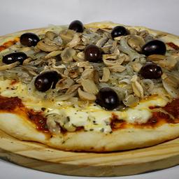 Pizza de Cebolla y Champiñones