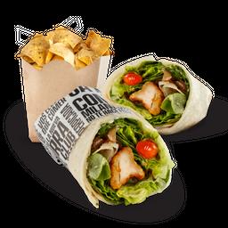 Chicken Wrap & Nachos