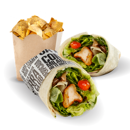 Chicken Wrap + Nachos