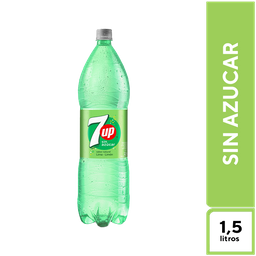 7Up Lima Limón sin Azúcar 1,5 l